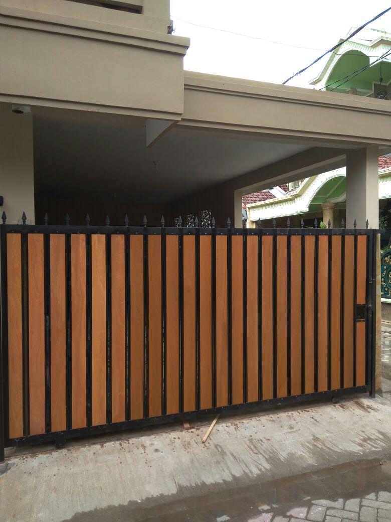 Pagar Kayu Ulin Bengkirai Minimalis Griya Kayu Surabaya
