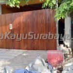 Pembuatan dan Pemasangan Pagar Kayu Rumah -Surabaya